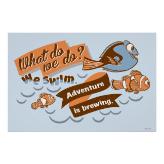 Nemo, Marlin & Dory   Adventure is Brewing Poster