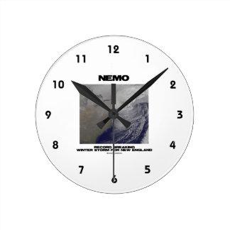Nemo Record Breaking Winter Storm For New England Round Clocks