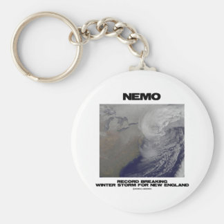 Nemo Record Breaking Winter Storm For New England Keychain