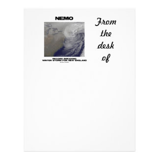 Nemo Record Breaking Winter Storm For New England Letterhead