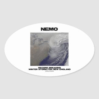 Nemo Record Breaking Winter Storm For New England Oval Sticker