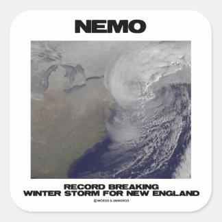 Nemo Record Breaking Winter Storm For New England Square Sticker