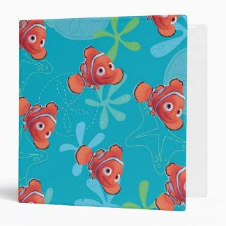 Nemo Teal Pattern 3 Ring Binder
