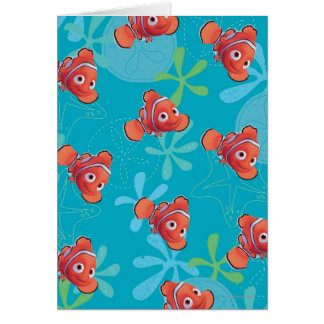 Nemo Teal Pattern Greeting Cards