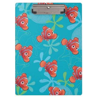Nemo Teal Pattern Clipboards