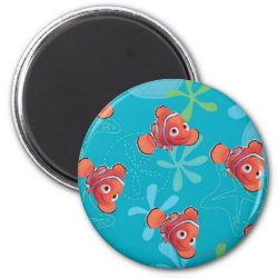Cute Nemo of Finding Nemo Round Magnet