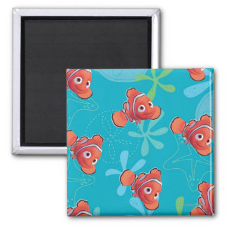 Nemo Teal Pattern Refrigerator Magnets