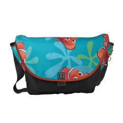 Rickshaw Medium Zero Messenger Bag with Cute Nemo of Finding Nemo design
