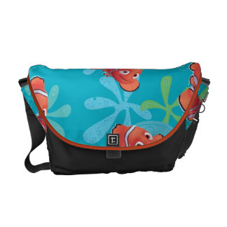 Nemo Teal Pattern Courier Bag