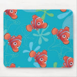 Nemo Teal Pattern Mouse Pad