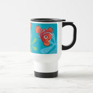 Nemo Teal Pattern 15 Oz Stainless Steel Travel Mug