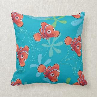 Nemo Teal Pattern Throw Pillows