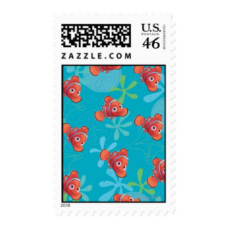 Nemo Teal Pattern Stamps