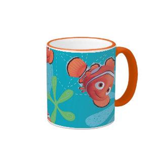 Nemo Teal Pattern Ringer Coffee Mug