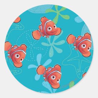 Nemo Teal Pattern Stickers