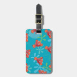 Nemo Teal Pattern Tags For Luggage