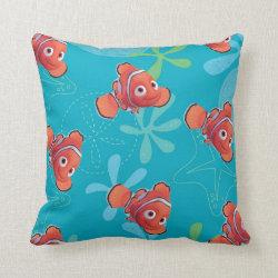 Cotton Throw Pillow with Cute Nemo of Finding Nemo design