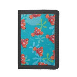 TriFold Nylon Wallet with Cute Nemo of Finding Nemo design