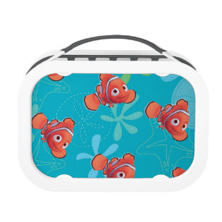 Nemo Teal Pattern Yubo Lunch Boxes