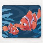 Nemo y aguja alfombrillas de ratón
