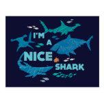 Nemo y tiburones - soy Niza un tiburón Tarjeta Postal