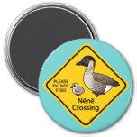 Nene Crossing 3 Inch Round Magnet