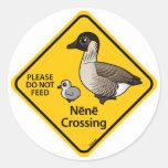 Nene Crossing Classic Round Sticker