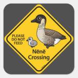 Nene Crossing Square Sticker