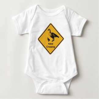 Nene Crossing, Traffic Warning Sign, Hawaii, USA Baby Bodysuit