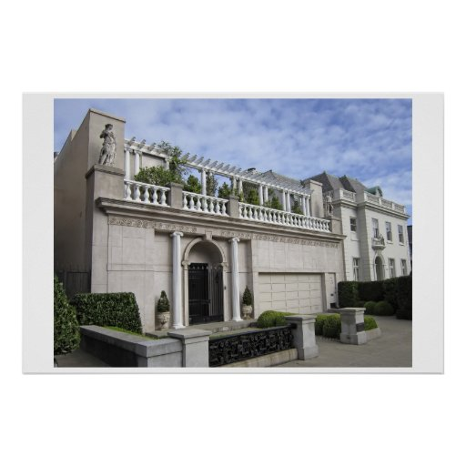 Neo-classical Home - San Francisco Poster