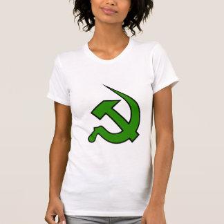Neo Dark Green & Black Hammer & Sickle on Women's Shirt