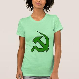 Neo Dark Green & Black Hammer & Sickle on Women's Tee Shirt