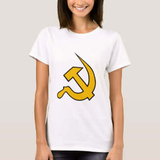 Neo Dark Yellow & Black Hammer & Sickle T-Shirt