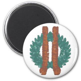 Neo druida símbolo imán redondo 5 cm