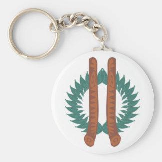 Neo druida símbolo llavero redondo tipo pin