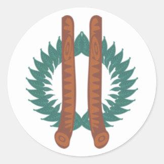 Neo druida símbolo pegatina redonda