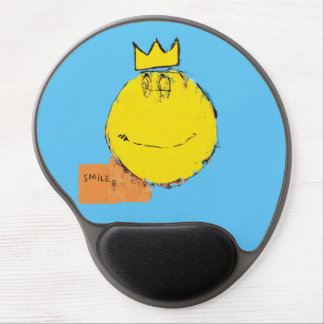 Neo-expressionist happy face mouspad gel mouse pad