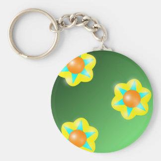 Neo Flora Basic Round Button Keychain