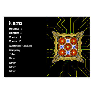 Neo Flower Pattern Big Large Business Cards (Pack Of 100)