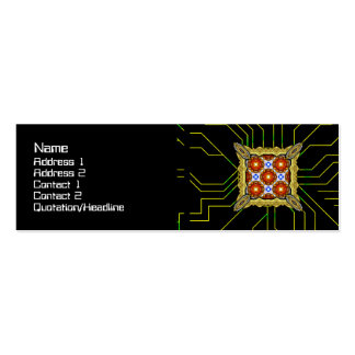 Neo Flower Pattern Big Double-Sided Mini Business Cards (Pack Of 20)