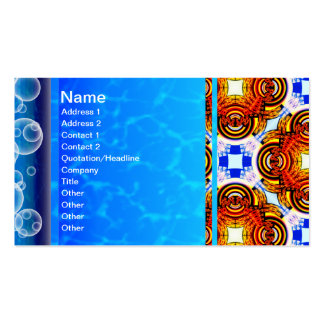 Neo Flower Pattern Big Double-Sided Standard Business Cards (Pack Of 100)