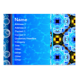 Neo Flower Pattern Big Inverted Business Card