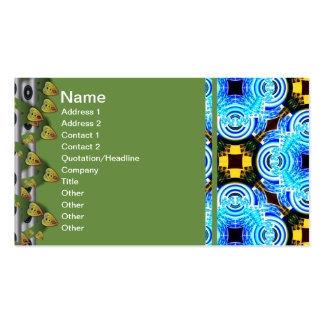 Neo Flower Pattern Big Inverted Double-Sided Standard Business Cards (Pack Of 100)