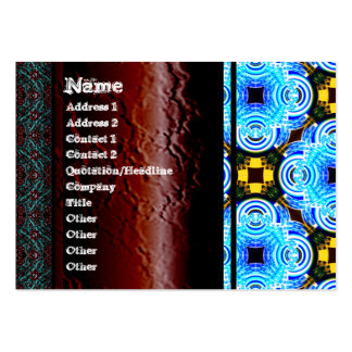 Neo Flower Pattern Big Inverted Business Cards