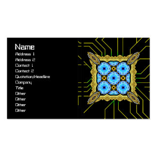 Neo Flower Pattern Big Inverted Business Card Templates