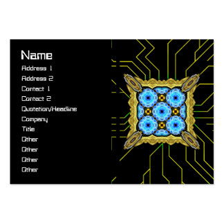 Neo Flower Pattern Big Inverted Large Business Cards (Pack Of 100)