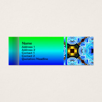 Neo Flower Pattern Big Inverted Mini Business Card