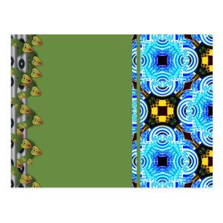 Neo Flower Pattern Big Inverted Postcard