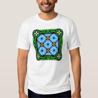 Neo Flower Pattern Big Inverted T-shirts