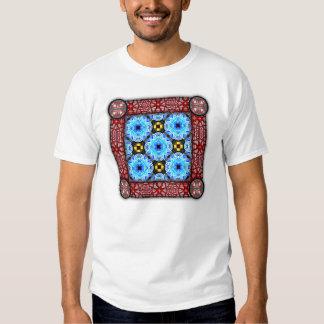 Neo Flower Pattern Big Inverted Tee Shirt
